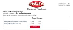 tell charleys survey