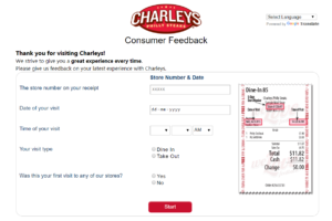 tellcharleys survey