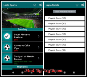 lepto sports mod android